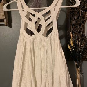 NWT Free People Cut Out White Top